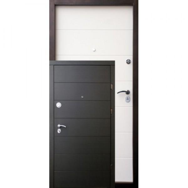 Дверь Премиум Горизонталь (Венге темный горизонталь/ пастель молочная горизонталь)